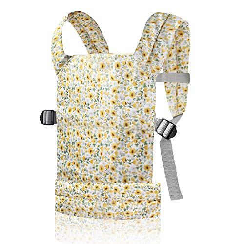 Nabance Puppentrage Weiche Baumwolle, Front und Rücken Kuscheltier Trage Einstellbare Größe für Kinder ab 18 Monate,, Geburtstagsgeschenk