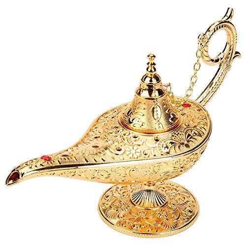 Sorand Aladdin Wunderlampe Öllampe Retro Arabische Genie Lampe Indische Deko Aladin Genielampe als Hochzeit Tischdeko oder Fensterdeko im Kinderzimmer Geschenk für Party/Halloween/Geburtstag