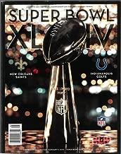 Super Bowl XLIV Game Program - New Orleans Saints Vs. Indianapolis Colts - Sunday, Feb. 7, 2010