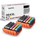 SMARTOMI 364 364 XL compatibles con HP 364XL Cartucho de Tinta, para HP Photosmart B8550 C5324 C5370 C5373 C5380 C5383 C5388 C5390 C5393 C6324 C6380 D5460 D5463 D7560(10 Cartuchos)