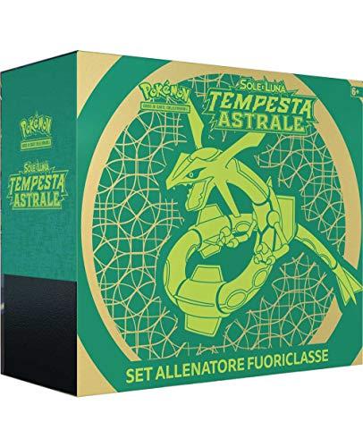 Pokemon Set Allenatore Fuoriclasse Sole e Luna Tempesta Astrale (IT), Colore Verde, 110