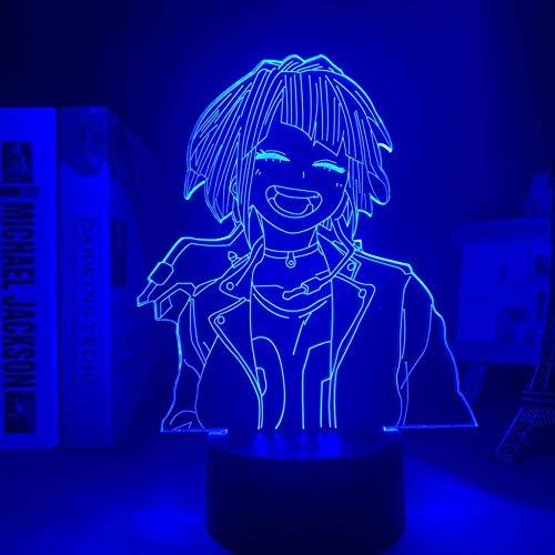 Lámpara 3D Anime My Hero Academia Kyouka Jirou lámpara para decoración de dormitorio para...