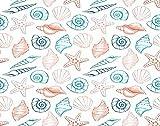 Y·JIANG Seashells pintura marina por números, concha marina, estrella de mar, coral océano, acuario, pintura acrílica al óleo por números, para adultos y niños, decoración de pared, 50 x 50 cm