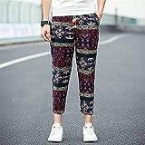 Harajuku Hommes Sarouel Hiphop Ethnique Aladdin Bas Pantalon Slim Joggers Crossfit Femmes Femininas Hombre Pantalon de Danse Mens Pantalon, Rouge, XXXL
