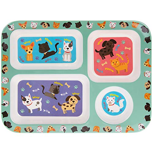 Lesser & Pavey LP44396A Cats & Dogs Tablett, Melamin