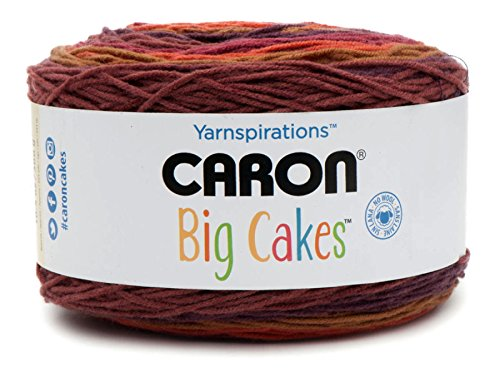Caron Big Cakes Self Striping Yarn ~ 603 yd/551 m/10.5oz/300 g Each (Cranberry Crisp)