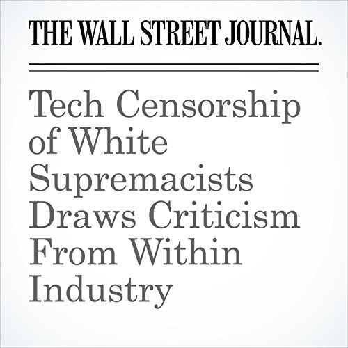 Tech Censorship of White Supremacists Draws Criticism From Within Industry copertina