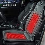 Sojoy iHealthComfort 12V Car Heated Seat Cushion Cover Pad (Gray)...