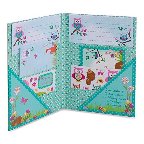 Lucy Locket - Juego de Escritura Infantil con «Animales del Bosque Kit de papelería con Hojas de Papel, Sobres y Postales para niños