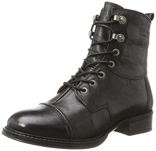 TEN POINTS Damen Pandora Stiefel, Schwarz (Black), 38 EU
