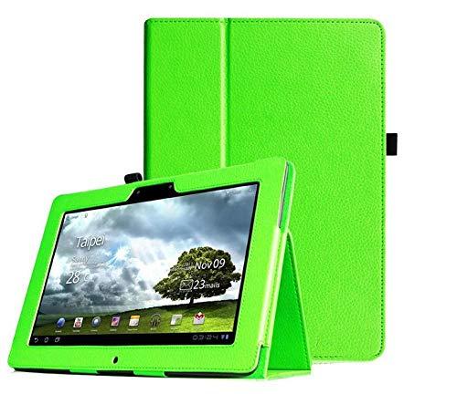 para 3 en 1 para ASUS Memo Pad FHD 10 ME302C ME302KL Funda para Tableta de 10,1 Pulgadas Funda Protectora de Cuero PU Funda con Soporte-Verde