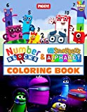 Numberblocks & Ask THe StoryBots Alphabet Coloring Book: 2 IN 1 Amazing Pages For Kids, Preschoolers With Premium Illustrated Pages