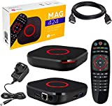 Mag 424 W3 4K 2160P HEVC Support, 600Mbps Built-in Dual Band 2.4G/5G WiFi, Bluetooth, HDMI Cable, 1 GB RAM & 8 GB Flash (Much Faster Than Old Mag 322w1 and 324W2)