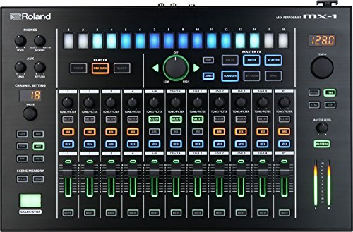 Roland MX-1 18 channels audio mixer - audio mixers (18 channels, 24 bit, 100000 Ω, -26, AC, 400 mm)