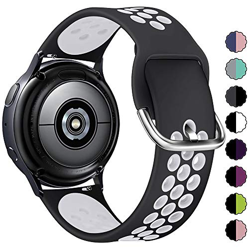 KIMILAR Armband Kompatibel mit Samsung Galaxy Watch 3 41mm/Watch 42mm/Watch Active/Active 2 (40mm/44mm) Silikon Armbänder Kompatibel mit Garmin Vivoactive 3/Forerunner 645/245/Vivomove HR Sport -L