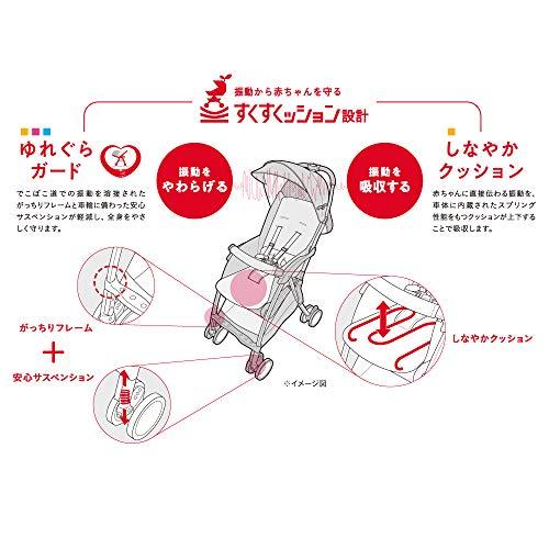 Aprica(アップリカ)すくすくッション設計ベルト装着簡単B型ベビーカーマジカルエアークッションABMagicalAirCushionABアスレチックネイビー7か月~(1年保証)2112198
