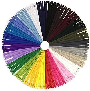 comprar comparacion Wartoon 72pcs 30cm / 12 pulgadas cremalleras de nylon multicolor de la bobina para coser y artes 24 colores