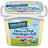 USDA Organic Grass Fed Ghee with Himalayan Salt, 12oz, Compare our cost per oz and Certified Organic, Carrington Farms
