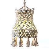 Lamp Shade Macrame Ceiling Pendant Light Shade Tasseled Chandelier Handgestrickte Boho Wedding Hanging Handwoven Home Decoration...