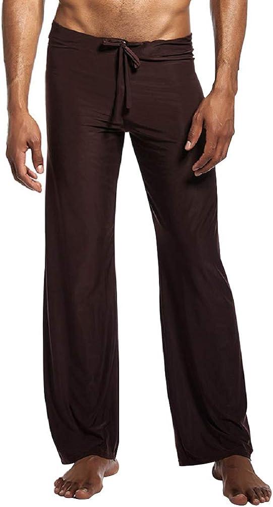 EachWell Men's Cool Ice Silk Pajama Pants Lounge Sleepwear Pants