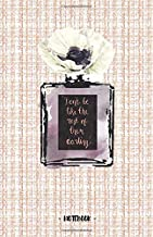DON'T BE LIKE THE REST OF THEM DARLING: Coco Chanel Quote - Linton tweed pink pattern & perfume bottle - Blank & Lined Pages (5.5 x 8.5) Journal ... to write and draw in (Positive Vibrations)