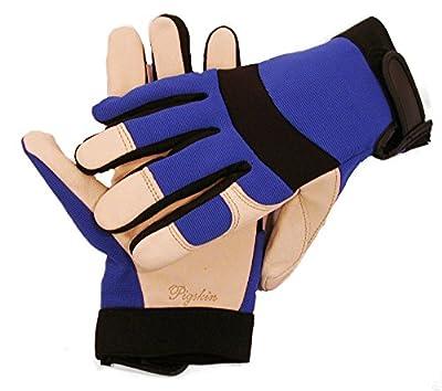 Red Steer 1526 Premium Grain Pigskin Driver Glove, Blue/Black or Gold/Black [Price is per Pair]