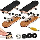 Mini Diapasón, 2 Pack Profesional Dedo Monopatín Maple Wood DIY Asamblea Skateboarding Juguete Juegos Deportivos Regalo de los Niños (Negro)