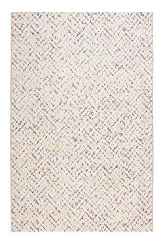 Esprit Home, In & Outdoor Kurzflor Teppich - Läufer für Terrasse, Balkon, Küche, Wohnzimmer, Pariso (120 x 170 cm, beige bunt)