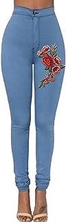 FAMILIZO Vaqueros Rotos Mujer Vaqueros Mujer Tallas Grandes Vaqueros Altos Ajustados Slim Fit Pantalones Tejanos Largos Mu...