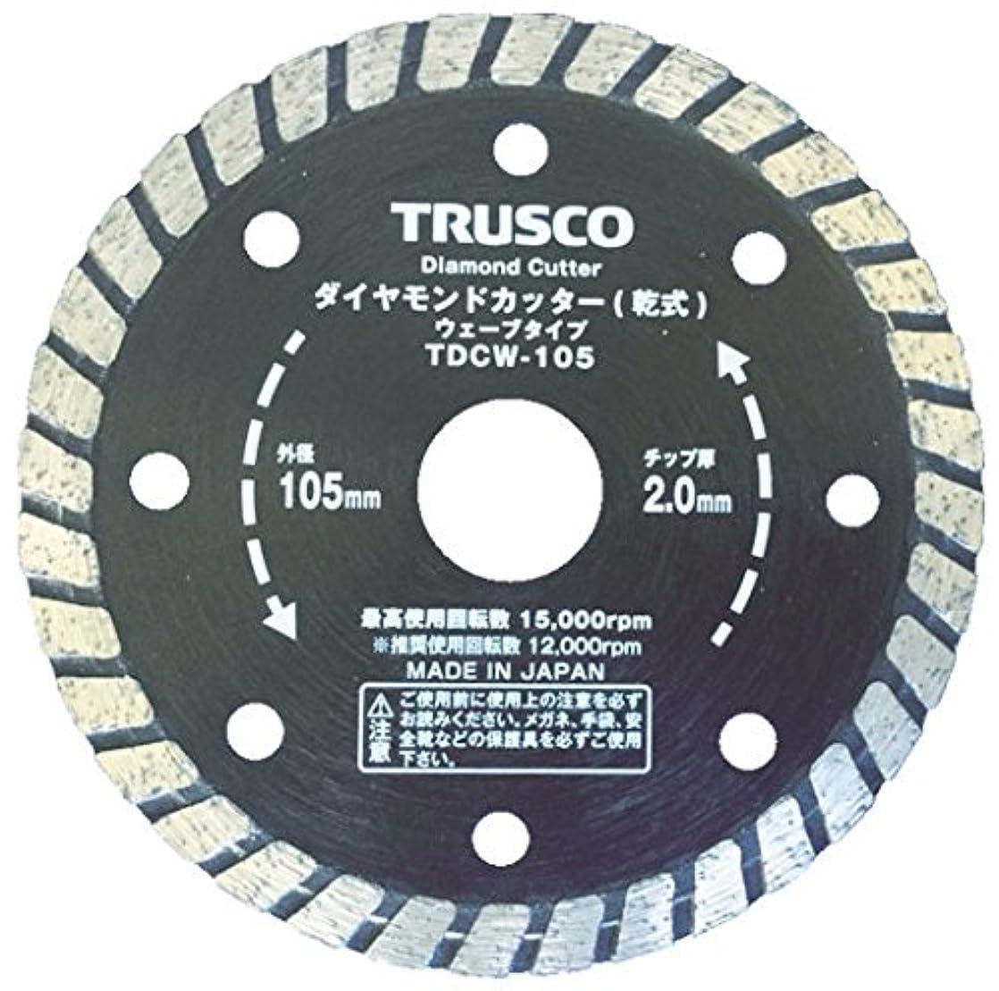 道路報酬の博物館TRUSCO(トラスコ) ダイヤモンドカッター 180X2.2TX7WX25.4H ウェーブ TDCW-180