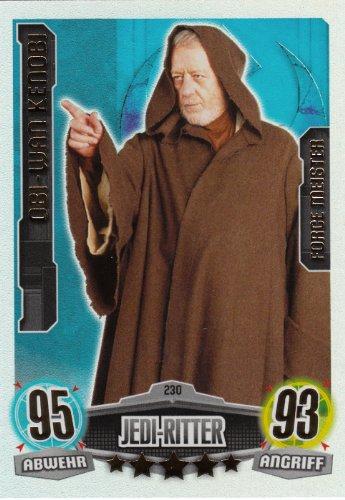 Star Wars Fuerza Attax Película única tarjeta tarjetas 230Obi Wan Kenobi jedi-knight, fuerza Master- (texto en alemán)