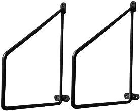 KaKaDz Plankbeugel 2 stuks zwart vierkant Gebruikt om wandsteunen te versieren - Metalen display zwevende plank - Inclusie...
