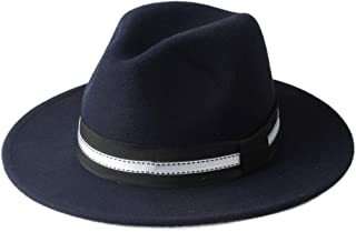 Lei Zhang Men Women Winter Fedora Hat Wide Brim Church Hat Panama Jazz Hat Outdoor Travel Fascinator Hat Size 56-58CM