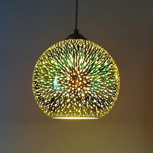 Lampade a Sospensione Moderna Sfera di Vetro Novità - 3D Illuminazione a Sospensione Colorata Lampada a Sospensione e27 Paralume (Lampadina Non Inclusa)