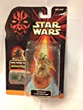 Star Wars, Episode I Action Figure, Yoda with Council Chair [Error Missing Episode I on Card], 3.75 Inches