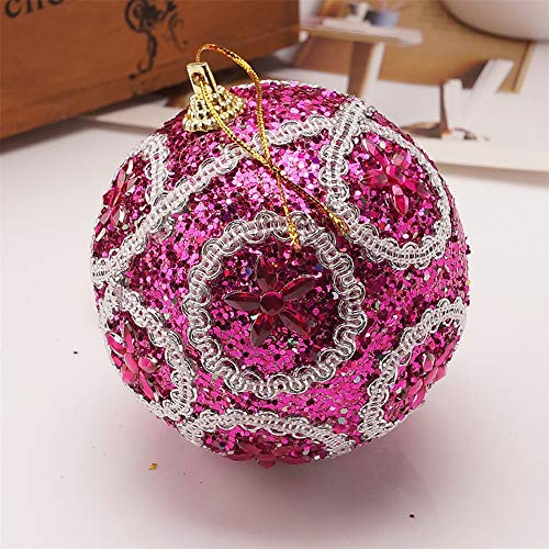 Christmas Balls Ornaments 2020 Rhinestone Glitter Baubles Ball,Christmas Decorations Tree Balls Small for Holiday Wedding Party Decoration, 8 cm
