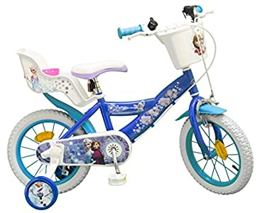 TOIMS Reina de Las Nieves: Bicicleta para niña, Color Azul, tamaño 16 Pulgadas