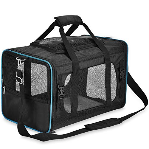 PPOGOO Pet Travel Carriers Soft-Sided for Cats and Dogs