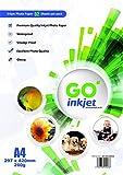 GO Inkjet - Papel fotográfico compatible con impresoras fotográficas y de...