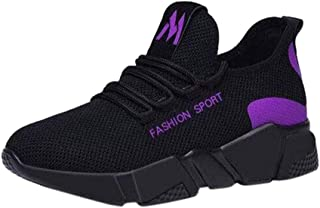 Scarpe da Ginnastica Corsa Donna Uomo Nero Scarpe da Sportive Offerta Classica Stringata Palestra Running Sneaker Donna C...