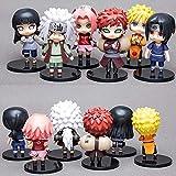 MNZBZ 6 unids/Set 10 cm Anime Naruto Figura Juguete Sasuke Kakashi Sakura Gaara Itachi Obito Madara ...
