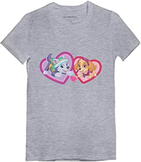 Paw Patrol BFF Love Everest & Skye Toddler/Kids Girls' Fitted T-Shirt