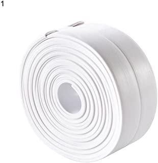 Taloyer Waterproof Antifung Anti-Mildew Tape Corner Seam Stickers Moisturizing Protector Collision Avoidance Strip (White)
