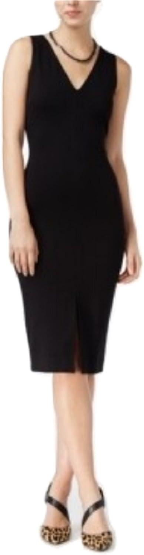 Bar III VNeck Sheath Dress XSmall Black