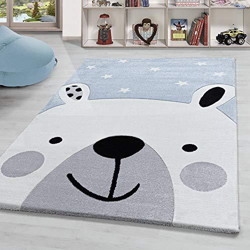 HomebyHome - Alfombra infantil (80 x 150 cm), diseño de oso, color...
