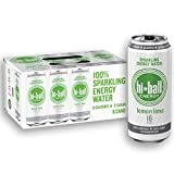 Hiball Energy Lemon Lime Sparkling Energy Water, Zero Sugar and Zero Calorie Energy Drink, 16 Fluid Ounce Cans, Pack of 8