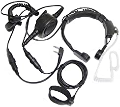 FANVERIM Throat Mic Headset with Finger Ptt Compatible for Kenwood Radios Tk-3206 Tk-3207 BaoFeng Radio UV-5R