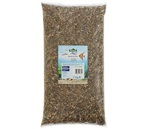 Dehner Aqua Gravier pour Aquarium Grain 2-4 mm 5 kg Gris/Marron