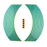 Pegatinas Set Bandas Llantas Reflectantes para Vehículos - Verde