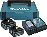 Makita PACK énergie Coffret Makpac + 2 batteries 18V 5Ah Li-Ion + chargeur DC18RC...